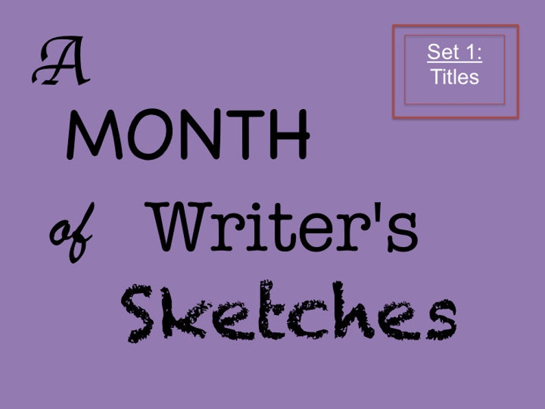 Creative Writing Sketch Starters Set 1 of Thirty Exercises for image 0