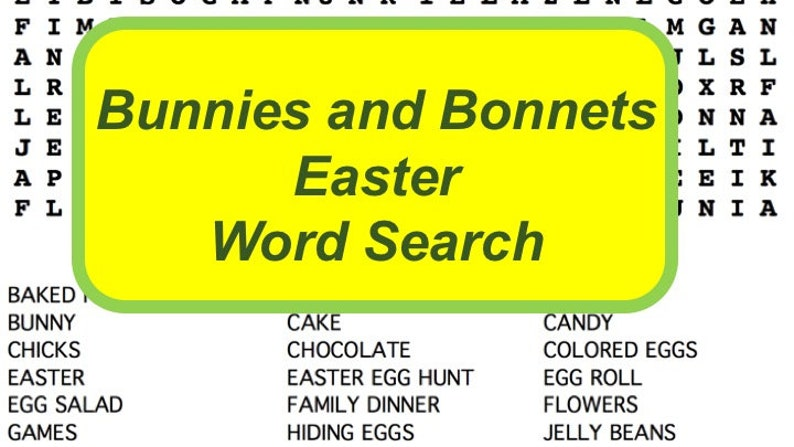 Fun Easter Word Search Puzzle with Non-Religious Secular image 0