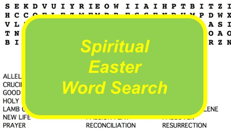 Spiritual Easter Word Search Puzzle with Religious Terms for image 0