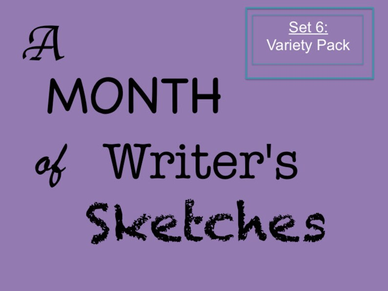 A Month of Writer's Sketches Set 6 Printable Collection of image 0
