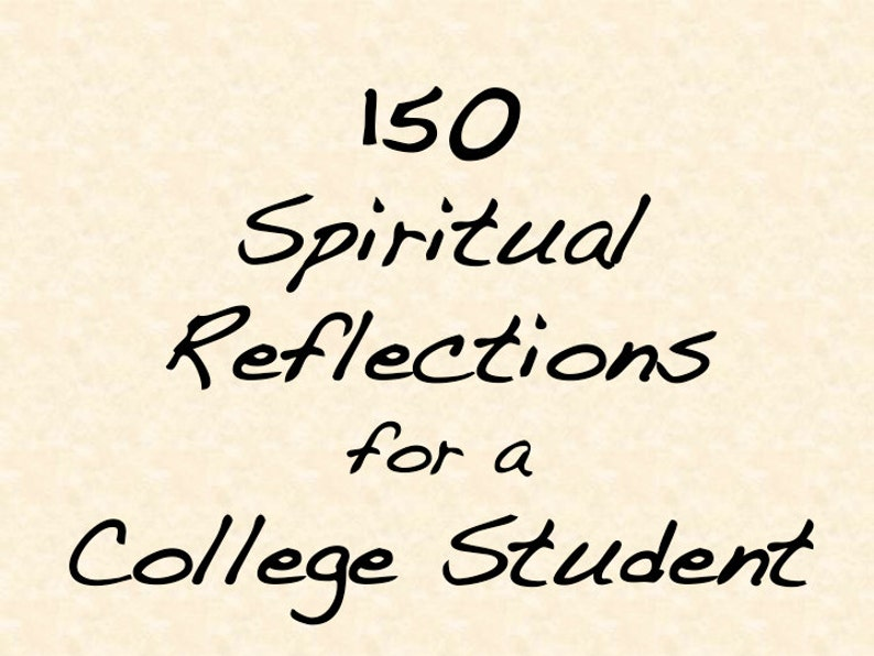 Printable Spiritual Journal for College Student with 150 image 0