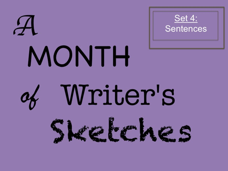 Printable Prompts for Daily Creative Writing for One Month image 0