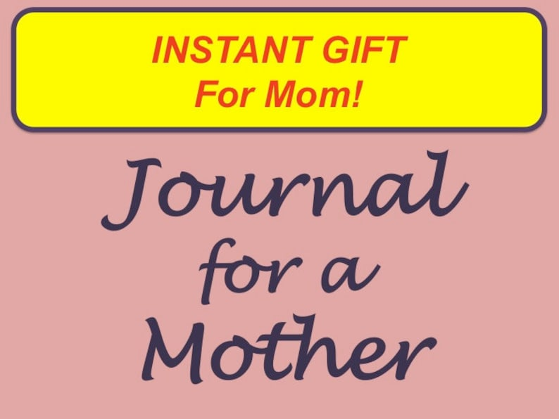 Journal for a Mother Printable Lined Journal with Presentation image 0