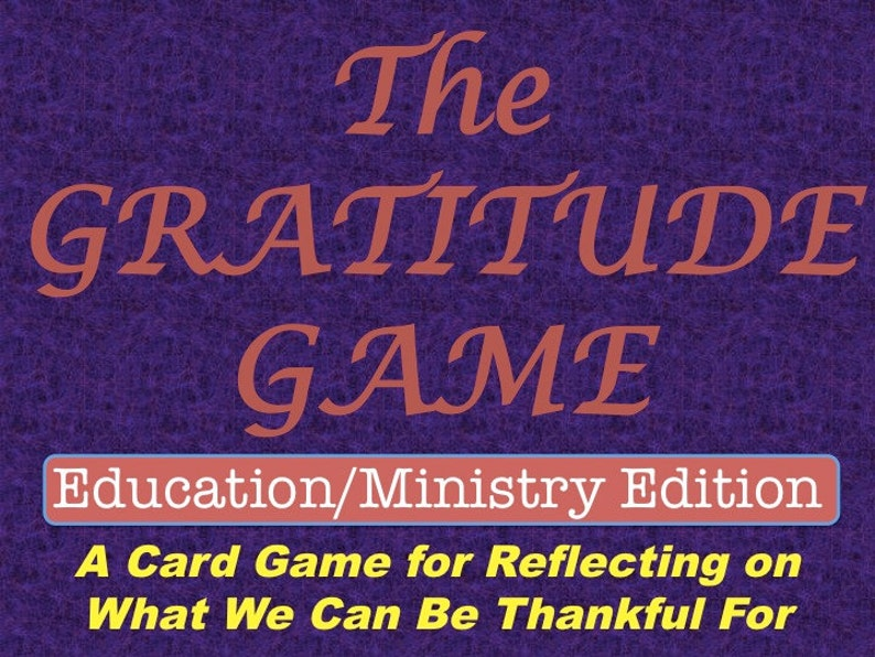 Gratitude Game Education and Ministry Edition Printable image 0