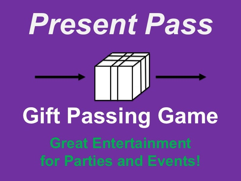 Present Pass Printable Party Gift Passing Game image 0