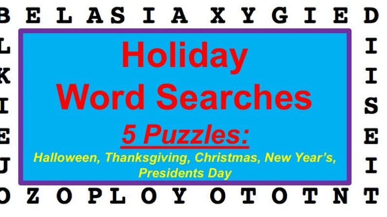 Printable Holiday Word Search Puzzles for Halloween image 0
