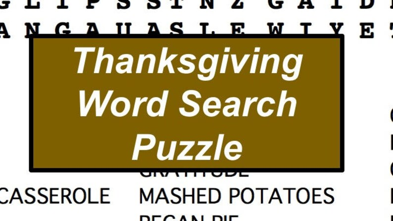 picture relating to Printable Thanksgiving Word Searches called Printable Thanksgiving Term Appear Puzzle, Thanksgiving Celebration Recreation, Hostess Reward for Thanksgiving Meal
