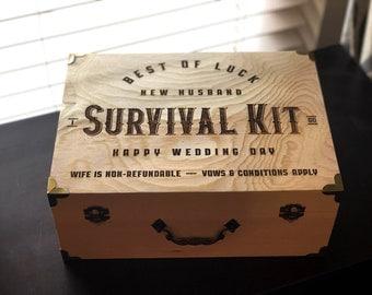 New Husband Survival Kit/ New Husband Gift / Wedding Gift for Him /Wedding Gift/ Husband Gift / Day of Wedding Gift for Groom