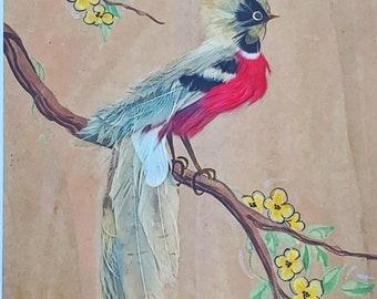 Bird Plumage Watercolor Wall Art Decor 2 Original Watercolor Impression Painting Bird Feather Series No