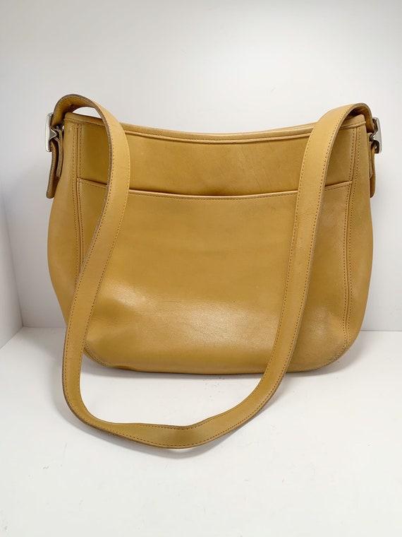 Vintage tan leather coach purse