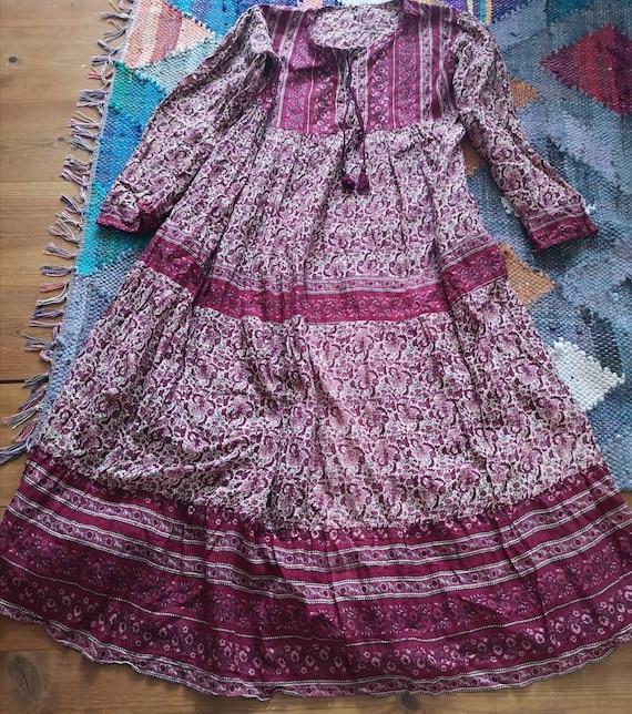 Vintage Indian cotton dress, Indian cotton dress,