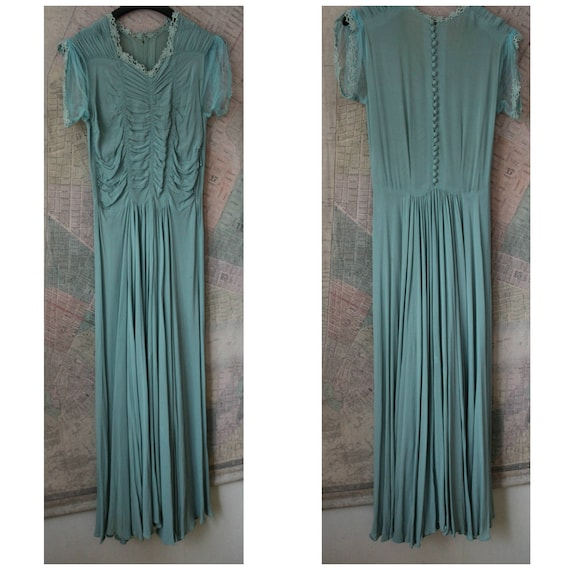 Vintage 1940s Dress Women, 40s dress, Frozen, Smal