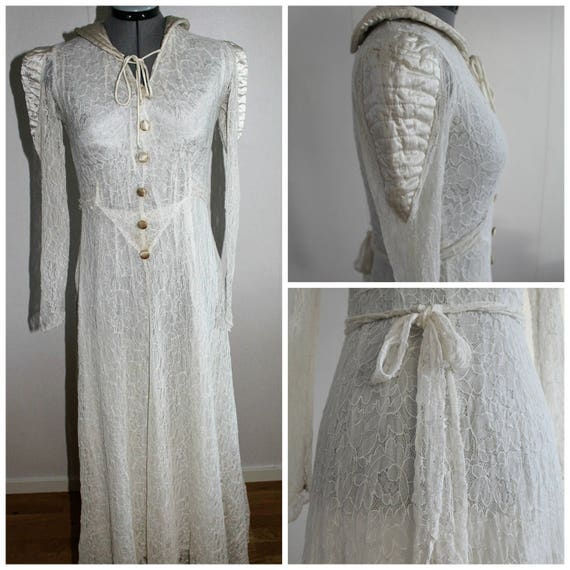 Vintage 1930s Weddingdress Women, 30s weddingdress