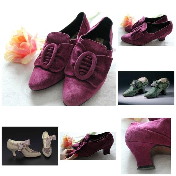 Chaussures Chaussures Chaussures d'inspiration Vintage XIXe siècle, des années 1980 19ème siècle chaussures, 80 s chaussures, XIXe siècle, escarpins, chaussures taille 6, violet pompes, des années 80, | Modèles à La Mode  54a56d