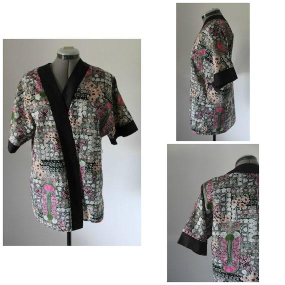 Vintage 1970s Kimono Women, 70s Kimono, Floral Kim