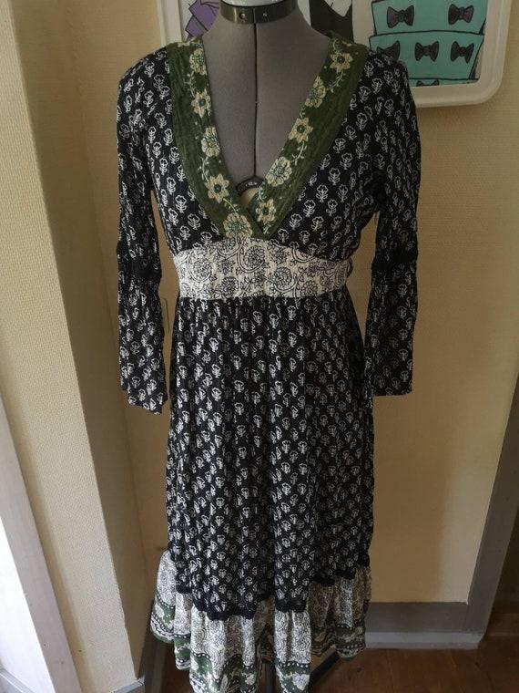 Vintage Indian cotton gauze dress, Indian cotton d