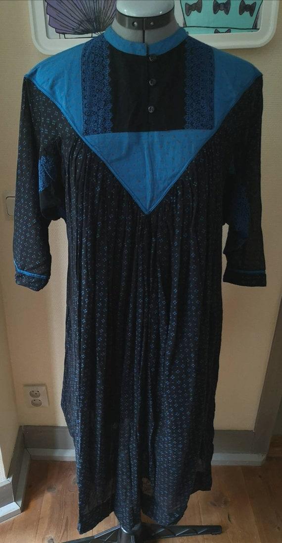 Vintage indian cotton dress, 1970s dress indian, 7