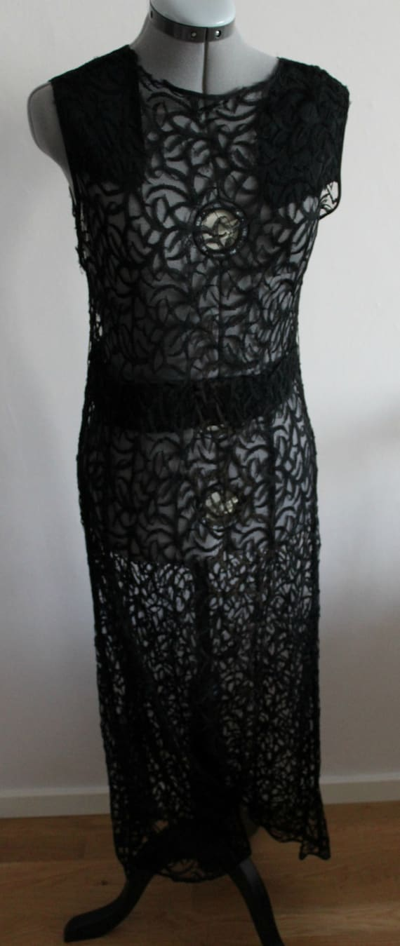 Vintage 1930s dress women, 1930s dress, Full lace
