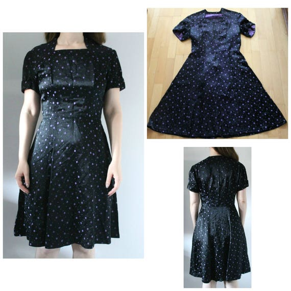 Vintage 1940s Dress Women, 40s Dress, 1940s polkad