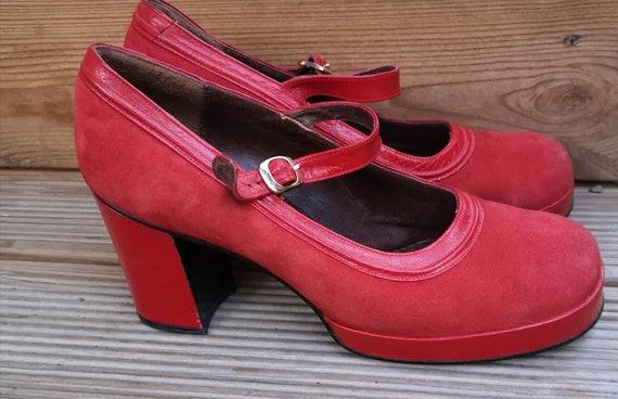 Vintage 1970s plattform shoes women, 70s shoes 197
