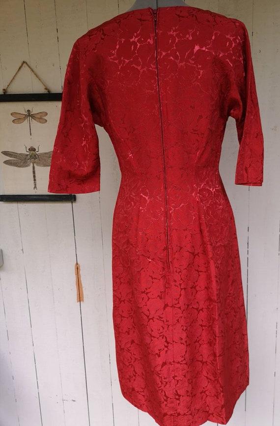 Vintage 1950s dress women, 1950s dress, 1950s ros… - image 3