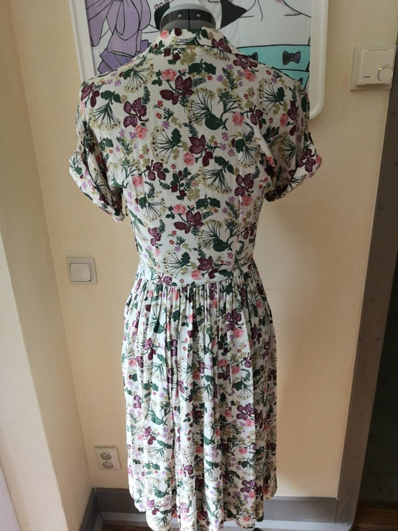 Vintage 1940s floral dress women, 1940s dress, 40… - image 2