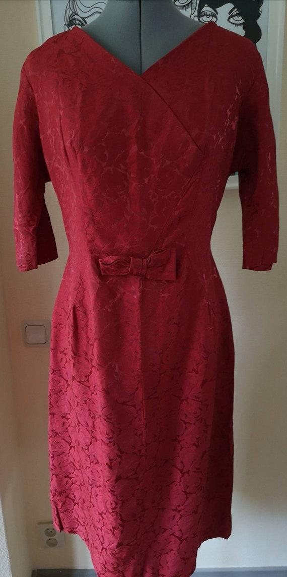 Vintage 1950s dress women, 1950s dress, 1950s ros… - image 10