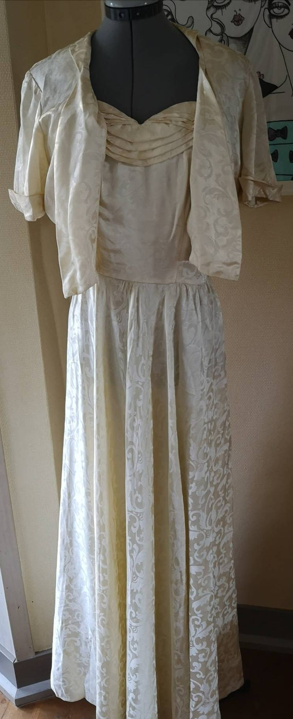 Vintage 1940s formal dress women, Wedding Dress 19