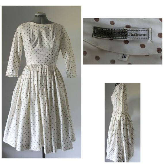 Vintage 1950s Dress Women, 50s Dress, Horrockses,