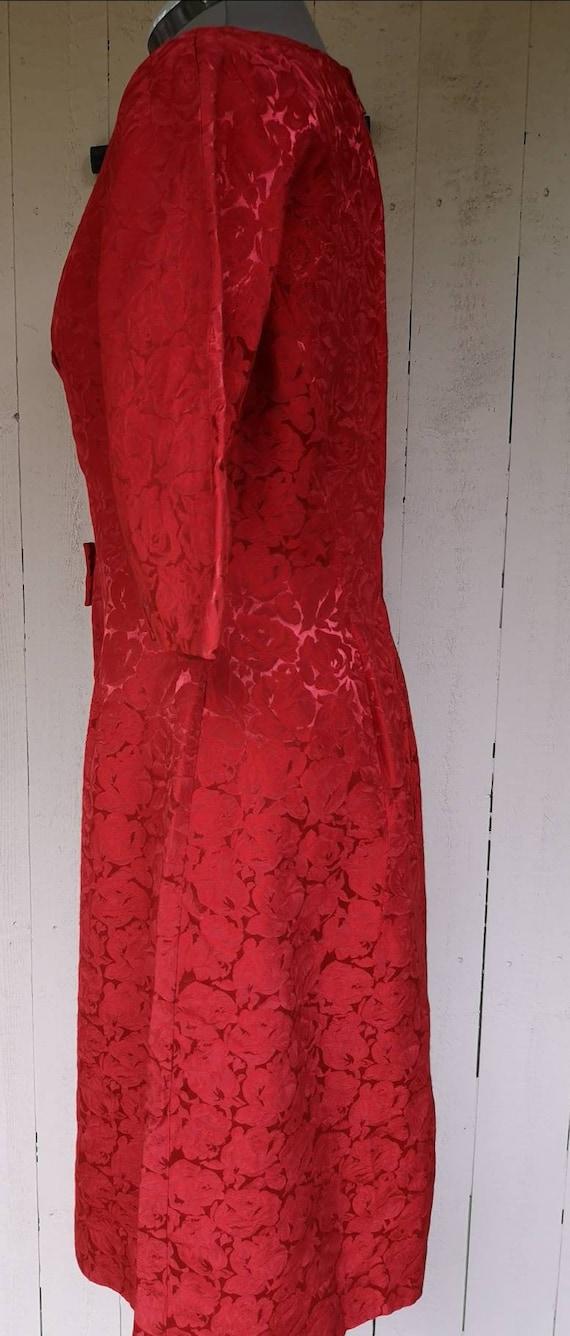 Vintage 1950s dress women, 1950s dress, 1950s ros… - image 2