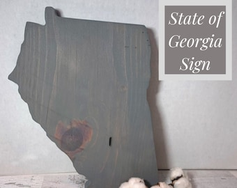 State of Georgia Sign made from reclaimed Wood. GA Wall Sign / Wood Sign/ Georgia State Sign