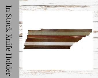 Magnetic Knife Block Holder made with all Natural Wood. Knife Holder.