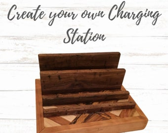 Custom Wood Charging Station. Customize your own charging station to hold any number or devices.