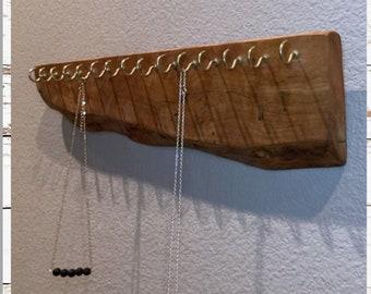 Wall Jewelry Holder. Rustic Wood Jewelry Display Holder.  Jewelry Storage/ Rustic Jewelry Holder /Wall Organizer/ Wood Jewelry Holder