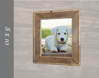 Barnwood Picture frame for 8 x 10 photos with a rustic edge.