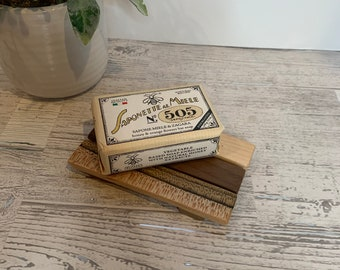 Wood Soap Dish Made From Reclaimed  Wood.