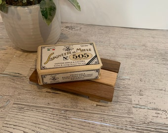 Slotted Soap Dish. Handmade from reclaimed woods.