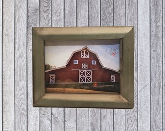 Rustic reclaimed poplar wood Picture Frame.     Sku: 213