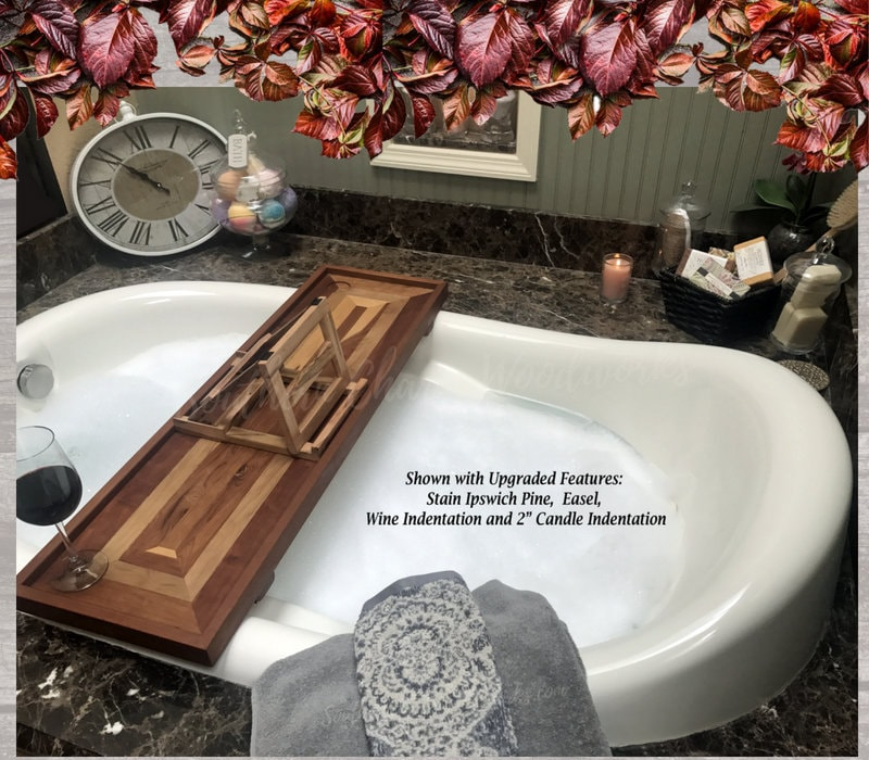 Bathtub Tray with optional wine holder. Bathtub Tray Shelf, Luxury ...