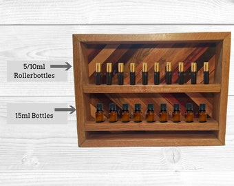 Essential Oil Wall Holder for 5/10ml Rollerballs and 15ml Bottles.  Essential Oil  Storage.