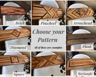Bath Tray choose your pattern. Bathtub Tray Shelf,  Luxury Bathtub Tray, Bath Caddy. Perfect Gift for her