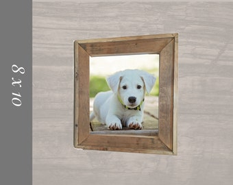 Picture frames holds  8x10 Pictures. Handmade from reclaimed Barnwood.