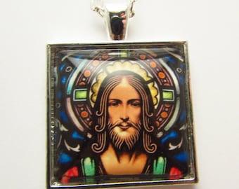 Jesus Pendant, Jesus of Nazaraeth Photo Pendant, Jesus Christ Art Jewelry, Christian Pendant, Christian Jewelry, Christian Necklace