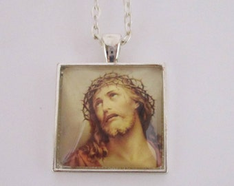 Jesus Christ Photo Pendant, Jesus of Nazareth Necklace, Passion of the Christ Pendant, Jesus Photo Pendant, Christian Jewelry