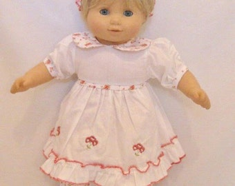 e025c4a6c3 Bitty Baby White Dress Set with Floral Trim - Fits 15-16