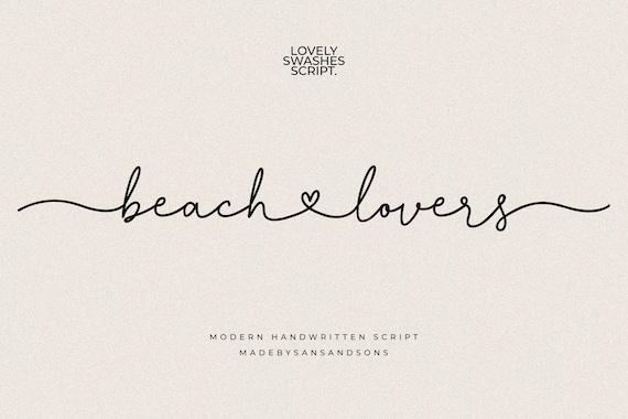 Beach Lovers - Lovely Font