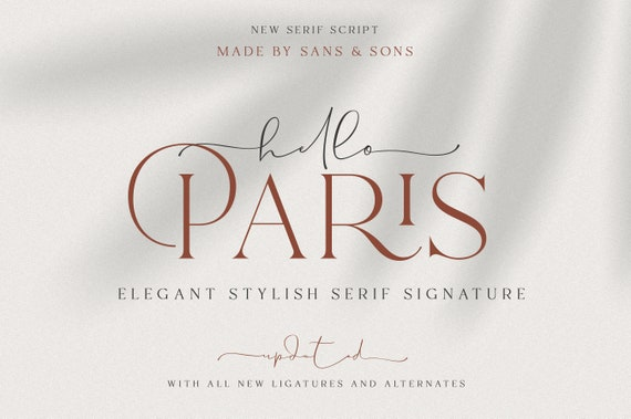 Hello Paris - Modern Elegant Duo