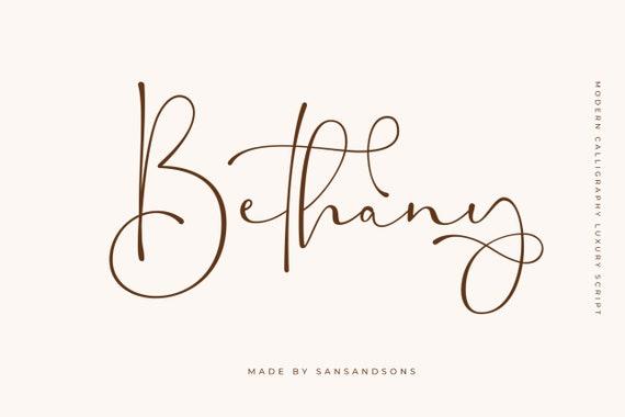 Bethany Script - Romantic Font