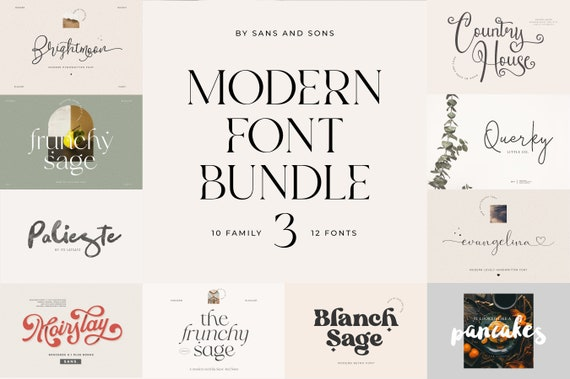 Modern Font Bundle Vol. 3