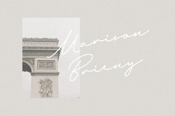 Marison Brieny - Elegant Script Font